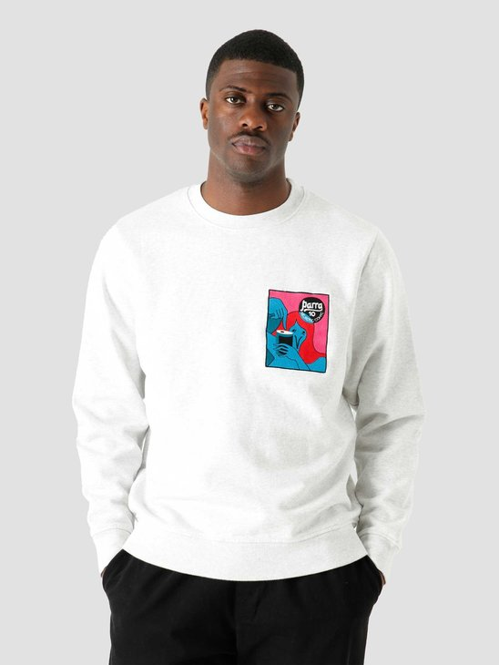 by Parra Neurotic Comic Crew Sweatshirt Ash Grey 45340