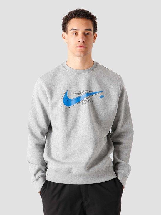 Nike M Nsw Court Fleece Crew Bb Dk Grey Heather DM3157-063