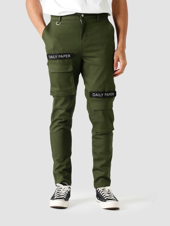 Daily Paper Cargo Pants Olive Green 18S1PA15-1