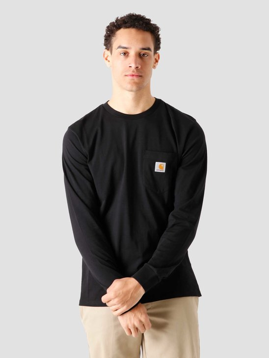 Carhartt WIP Pocket Longsleeve  Black I022094-8900