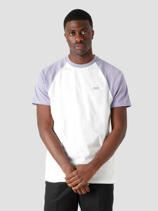 Quality Blanks QB07 Patch Logo Baseball T-shirt White Lilac