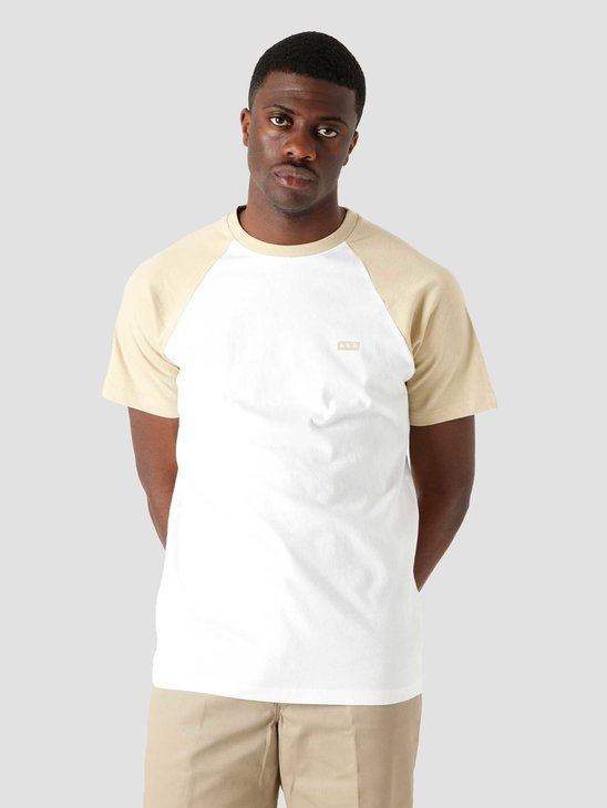 Quality Blanks QB07 Patch Logo Baseball T-shirt White Sand
