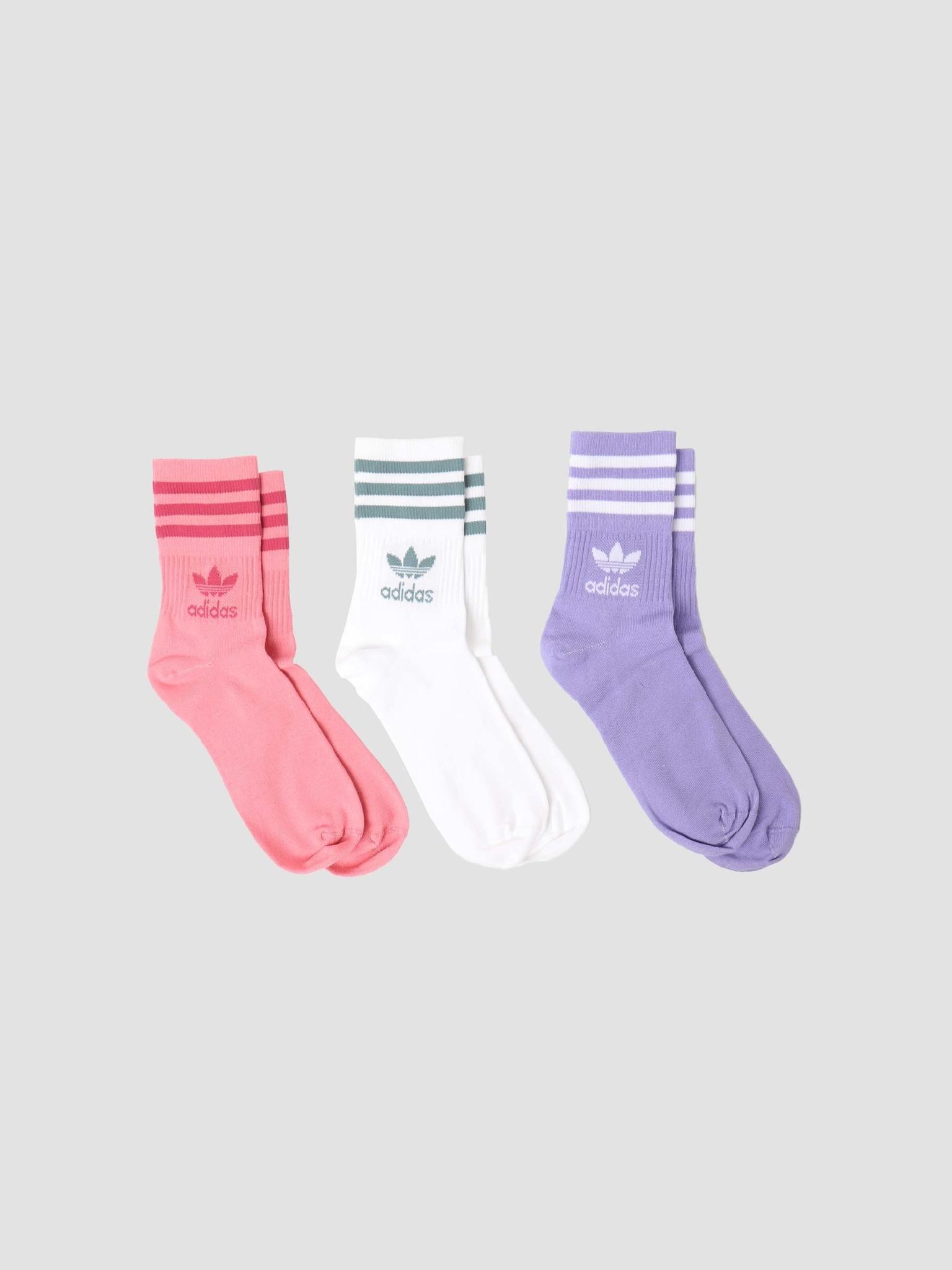 adidas adidas Mid Cut Crew Sock Hazros Pink GN3080