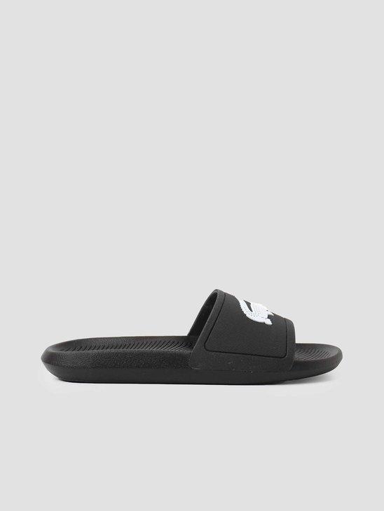 Lacoste Croco Slide 119 1 Cma Black White 737CMA001831211