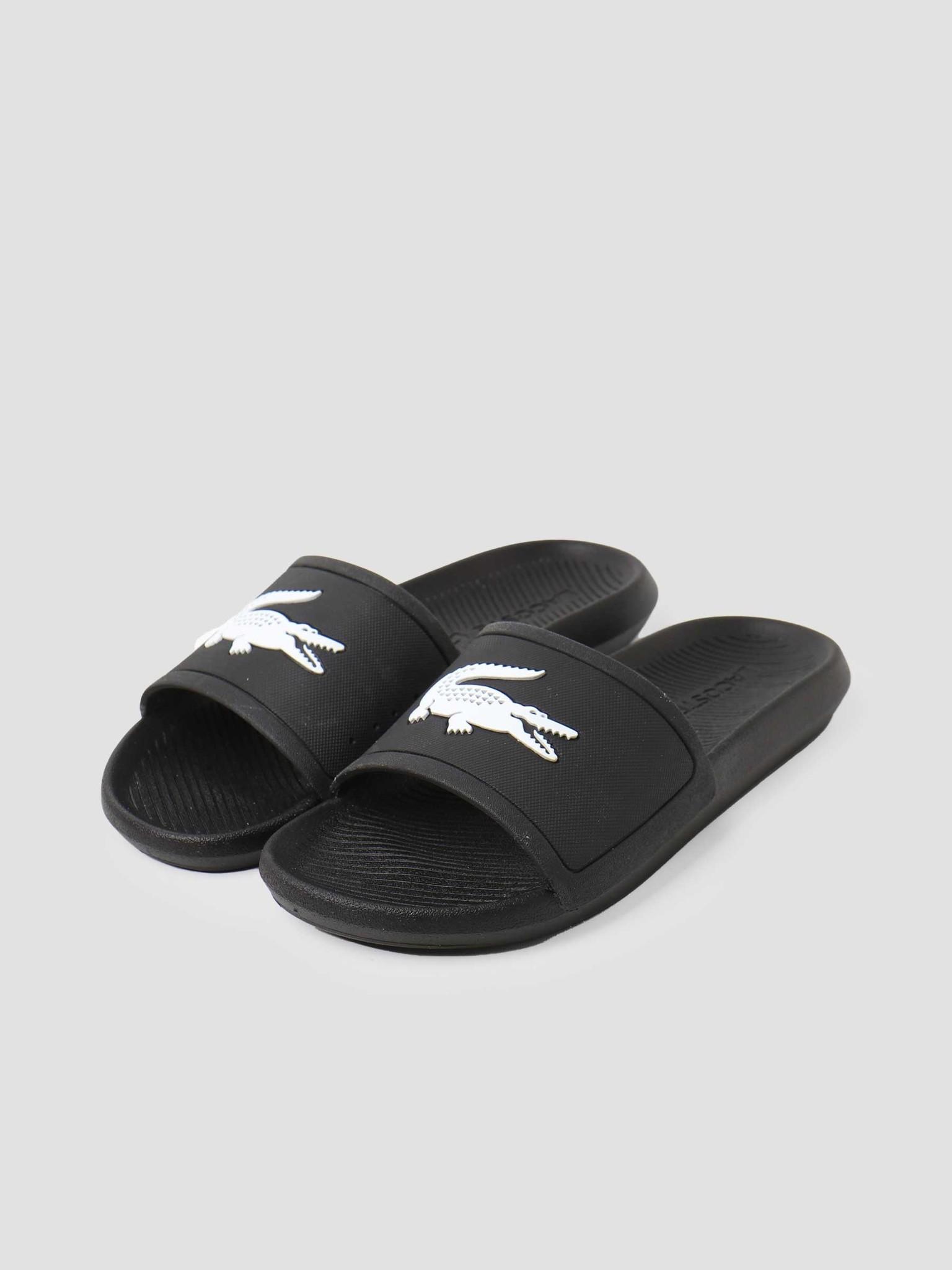 Lacoste Lacoste Croco Slide 119 1 Cma Black White 737CMA001831211
