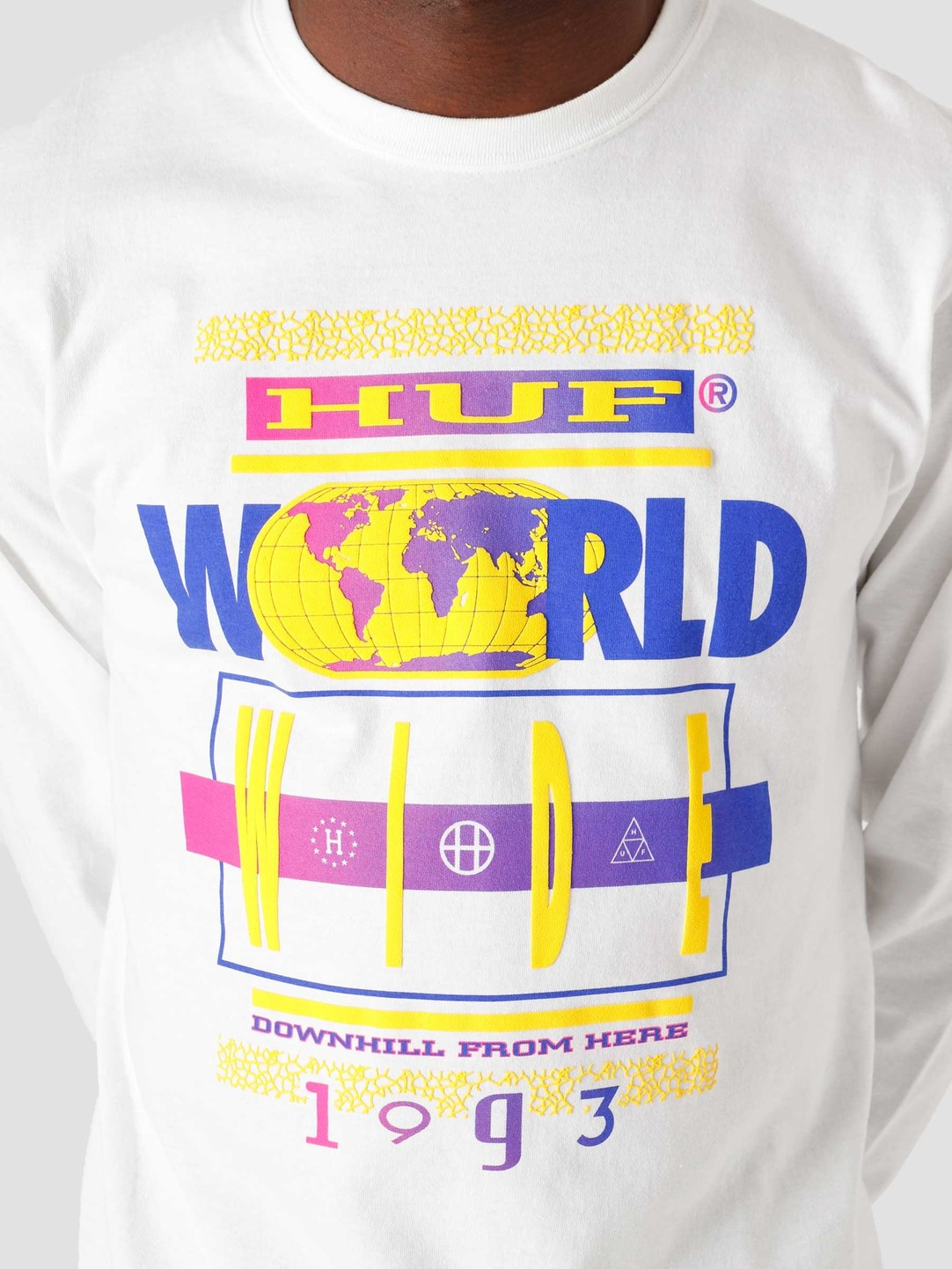 HUF HUF 93 Tour L/S Tee White TS01324