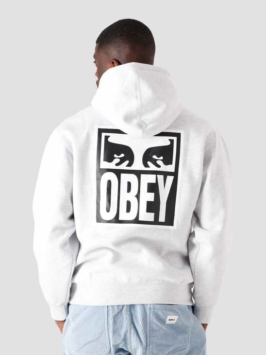 Obey Eyes Icon 2 Box Fit Crew Grey 112842142-AGRY