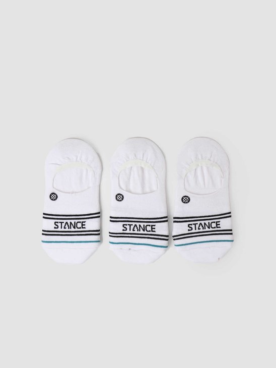 Stance Basic 3 Pack No Show White A145D20SRO-WHT
