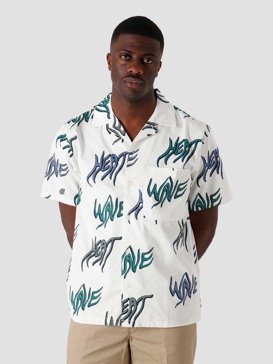 Carhartt WIP SS Heat Wave Shirt Heat Wave Print Wax I028799-0BL00