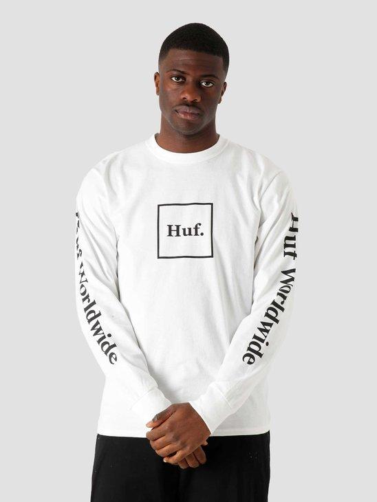 HUF Domestic Longsleeve White TS00146