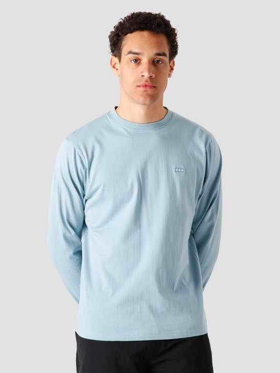 Quality Blanks QB05 Patch Logo Longsleeve Dusty Blue