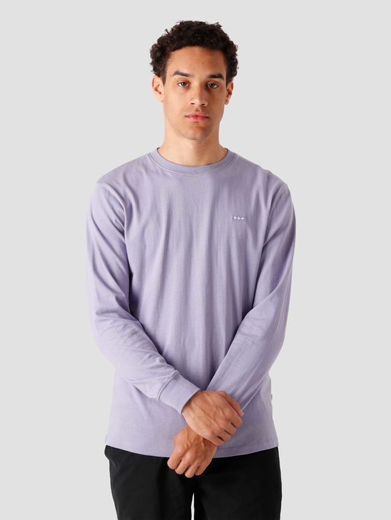 Quality Blanks QB05 Patch Logo Longsleeve Dusty Lilac