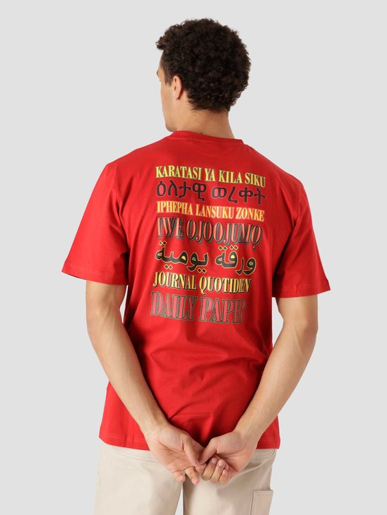 Daily Paper Remulti Tee Haute Red Flame Red 2113033