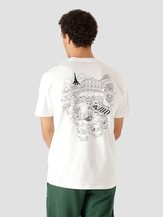 Carhartt WIP Orbit Picnic In Paris T-Shirt White I029932