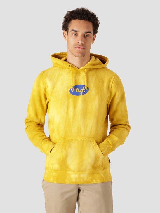 HUF Relax Tiedye Hoodie Yellow PF00345