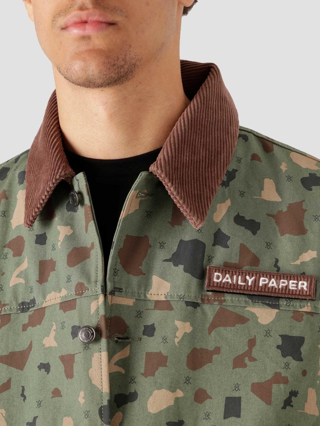 Daily Paper Daily Paper Recomo Coach Green Camo 2113039