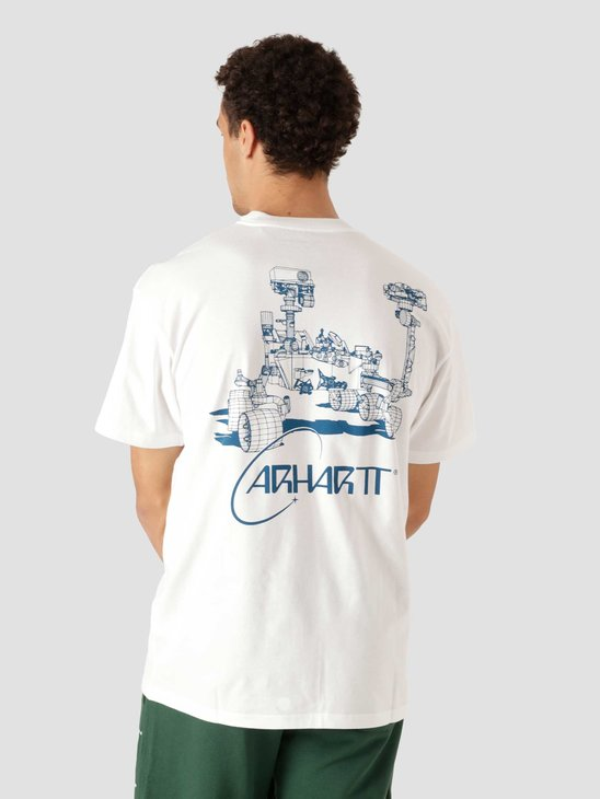 Carhartt WIP Orbit T-Shirt White Blue I029928