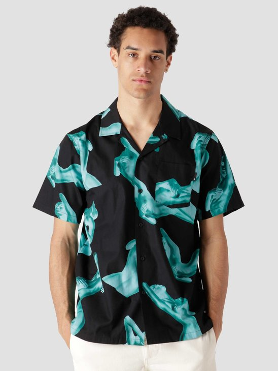HUF Her Resort Shirt Black BU00094