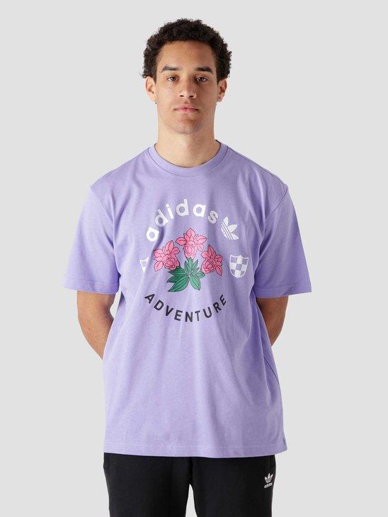 adidas Flowers T-Shirt Purple GN2375