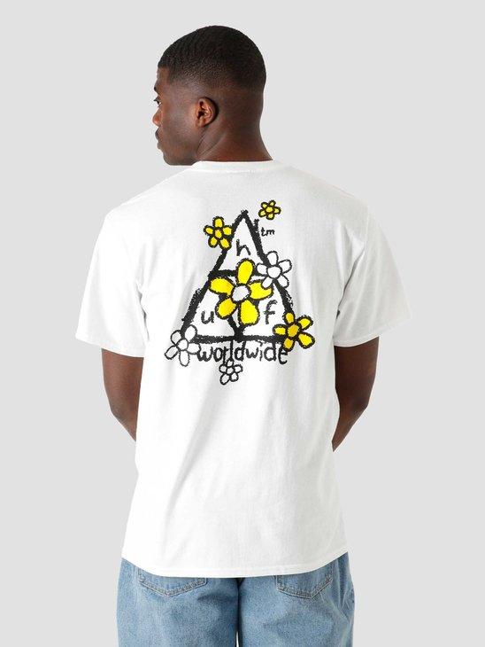 HUF Pushing Daisies T-Shirt White TS01339