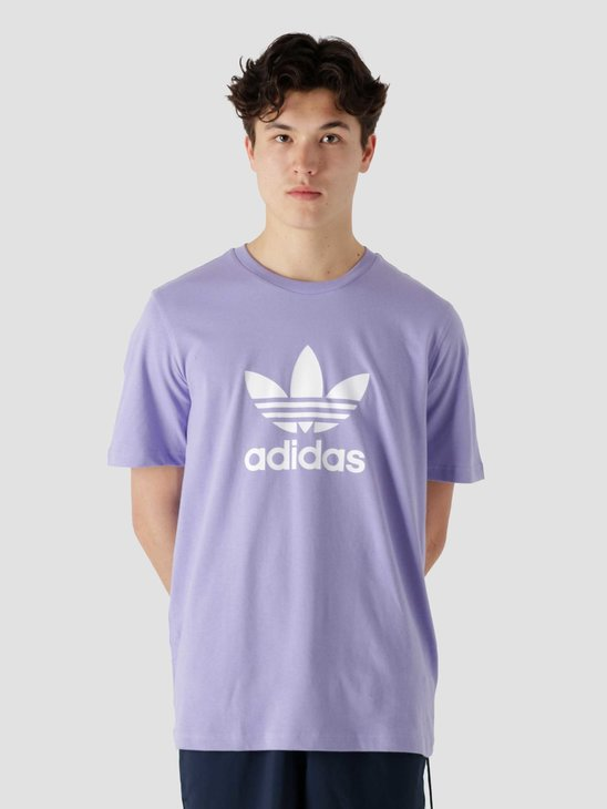 adidas Trefoil T-Shirt Light Purple White GN3481