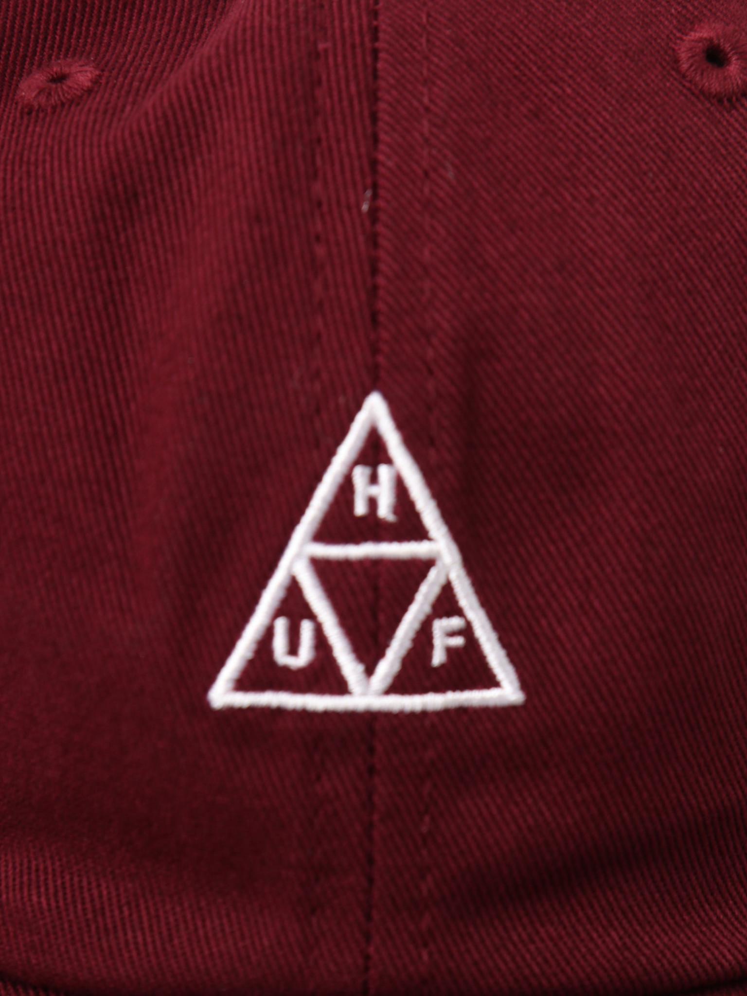 HUF HUF Essentials OG Logo Cv 6 Panel Oxblood HT00346