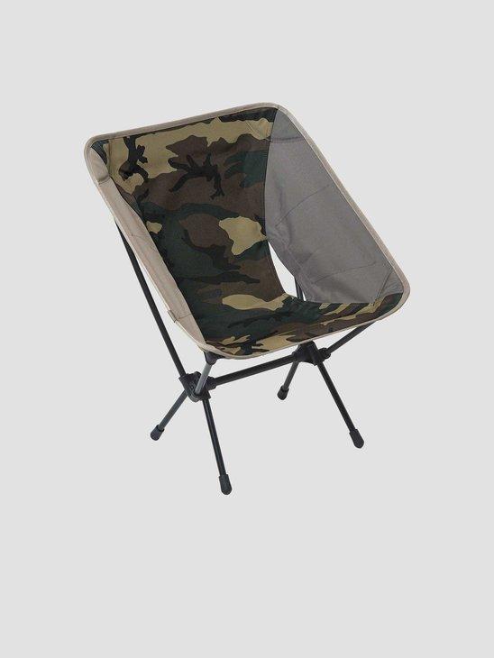 Carhartt WIP Helinox Valiant 4 Tactical Chair Black Air Force Grey Leather I021387-0DL00