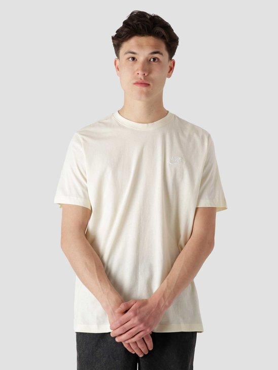 Nike Nsw Club T-Shirt Coconut Milk White AR4997-113