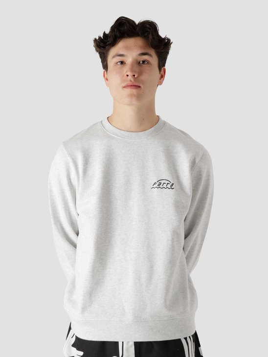 by Parra Arch Logo Sweatshirt Ash Grey 45490