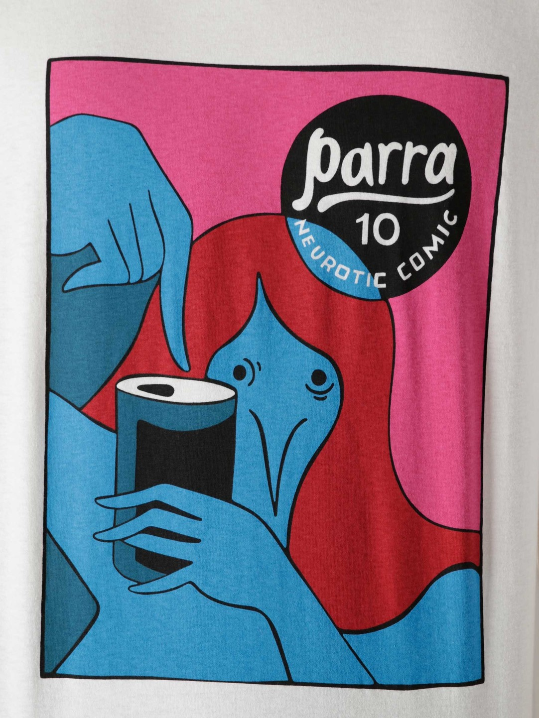 by Parra by Parra Neurotic Comic T-Shirt White 45450