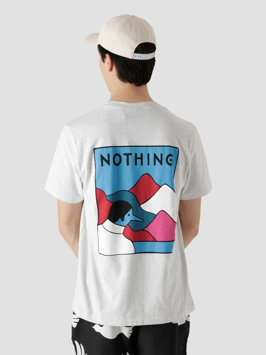 by Parra Nothing T-Shirt Ash Grey 45470