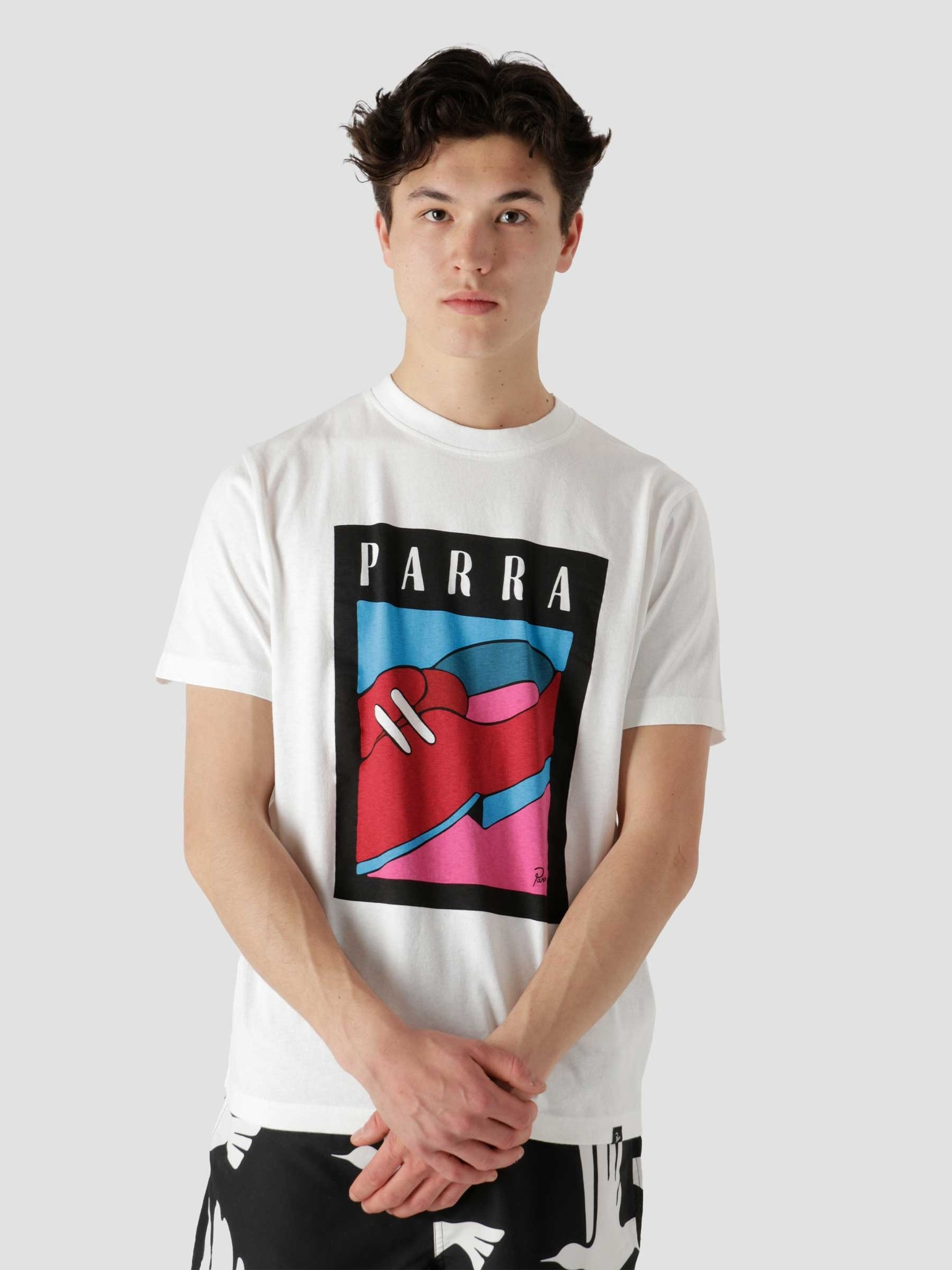 by Parra by Parra Shoe Repair T-Shirt White 45431