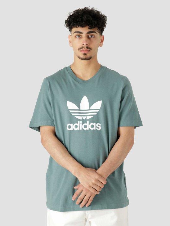 adidas Trefoil T-Shirt Hazy Emerald White GN3483