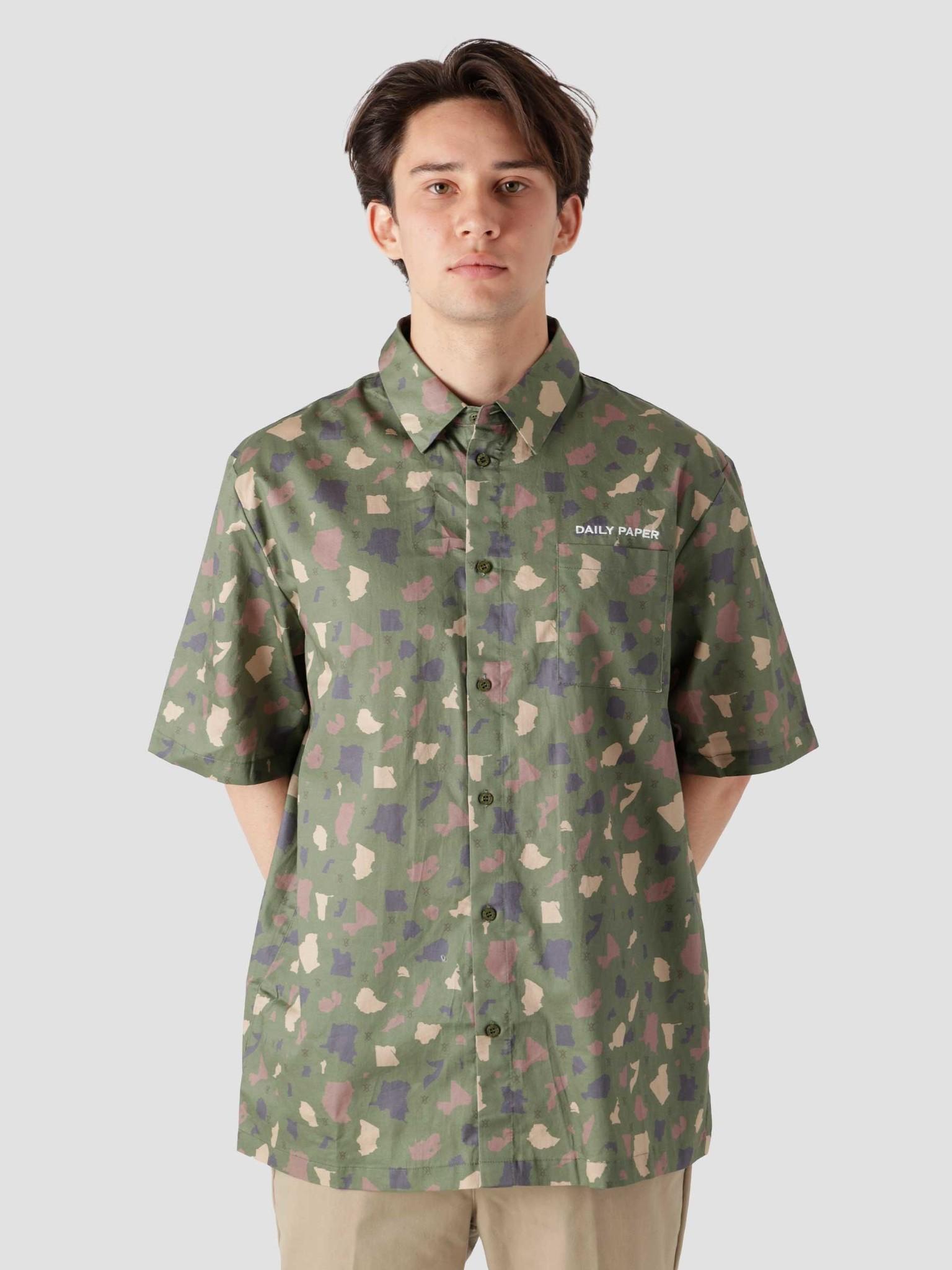 Daily Paper Daily Paper Recomo Shirt Green Camo 2113006