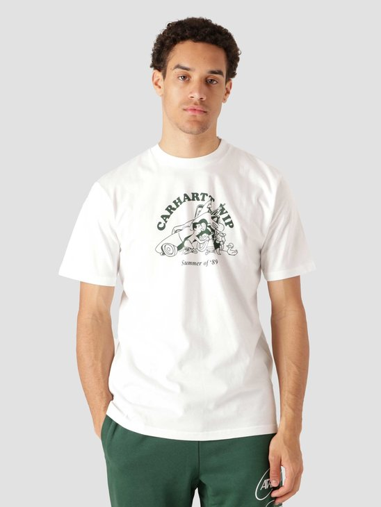 Carhartt WIP Orbit Flat Tire T-Shirt White Treehouse I029931