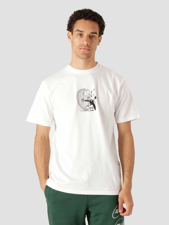 Carhartt WIP  Orbit Harp T-Shirt White Black I029933