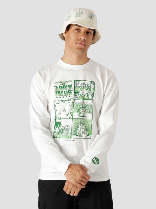 HUF Day In The Life Longsleeve T-Shirt White TS01604