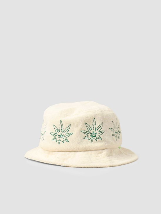 HUF Green Buddy Terry Cloth Bucket Natural HT00602