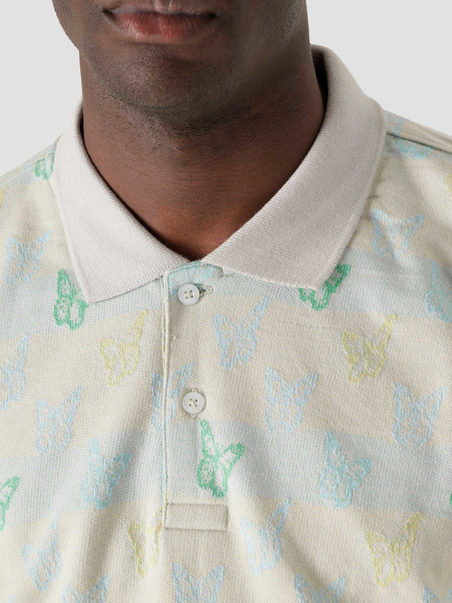 Obey Obey Butterfly Polo Shortsleeve Lilac Multi 131090064