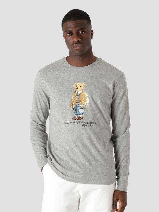 Polo Ralph Lauren M Classics 2 Long Sleeve T-Shirt Andover Heather 710828276003