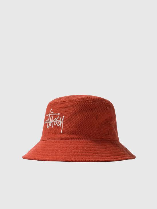 Stussy Big Logo Twill Bucket Hat Orange 1321024-0602