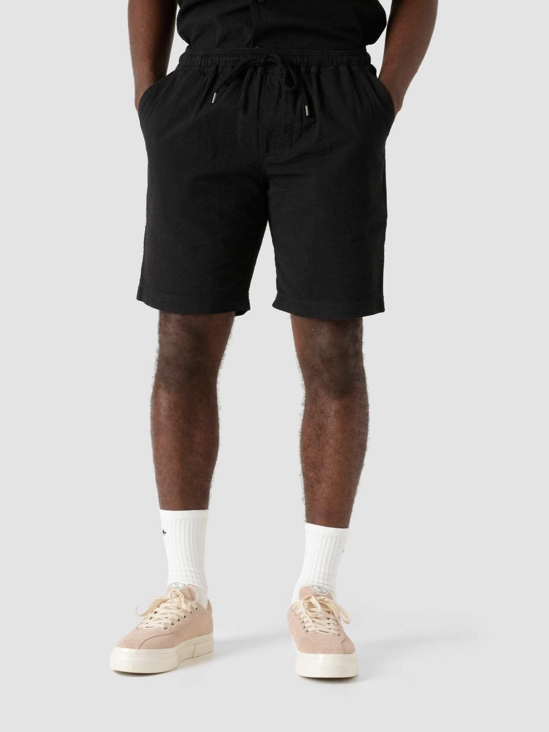 Quality Blanks Quality Blanks QB36 Seersucker Short Black