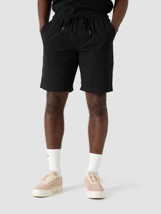 Quality Blanks QB36 Seersucker Short Black