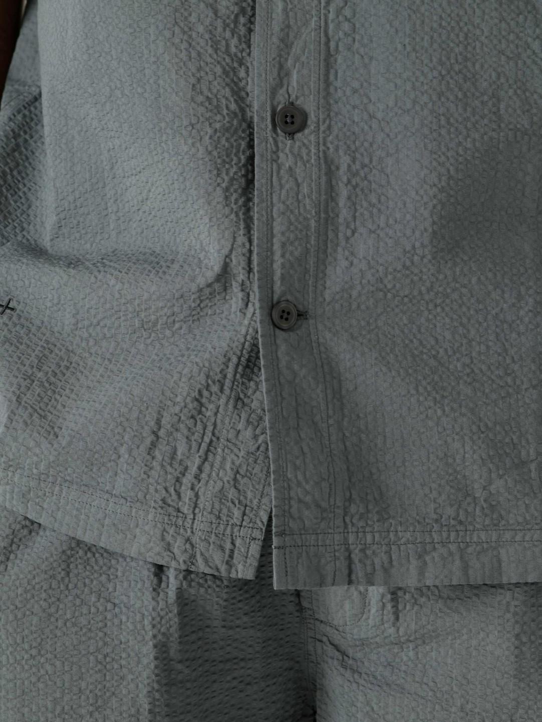 Quality Blanks Quality Blanks QB46 Seersucker Shirt Teal Blue