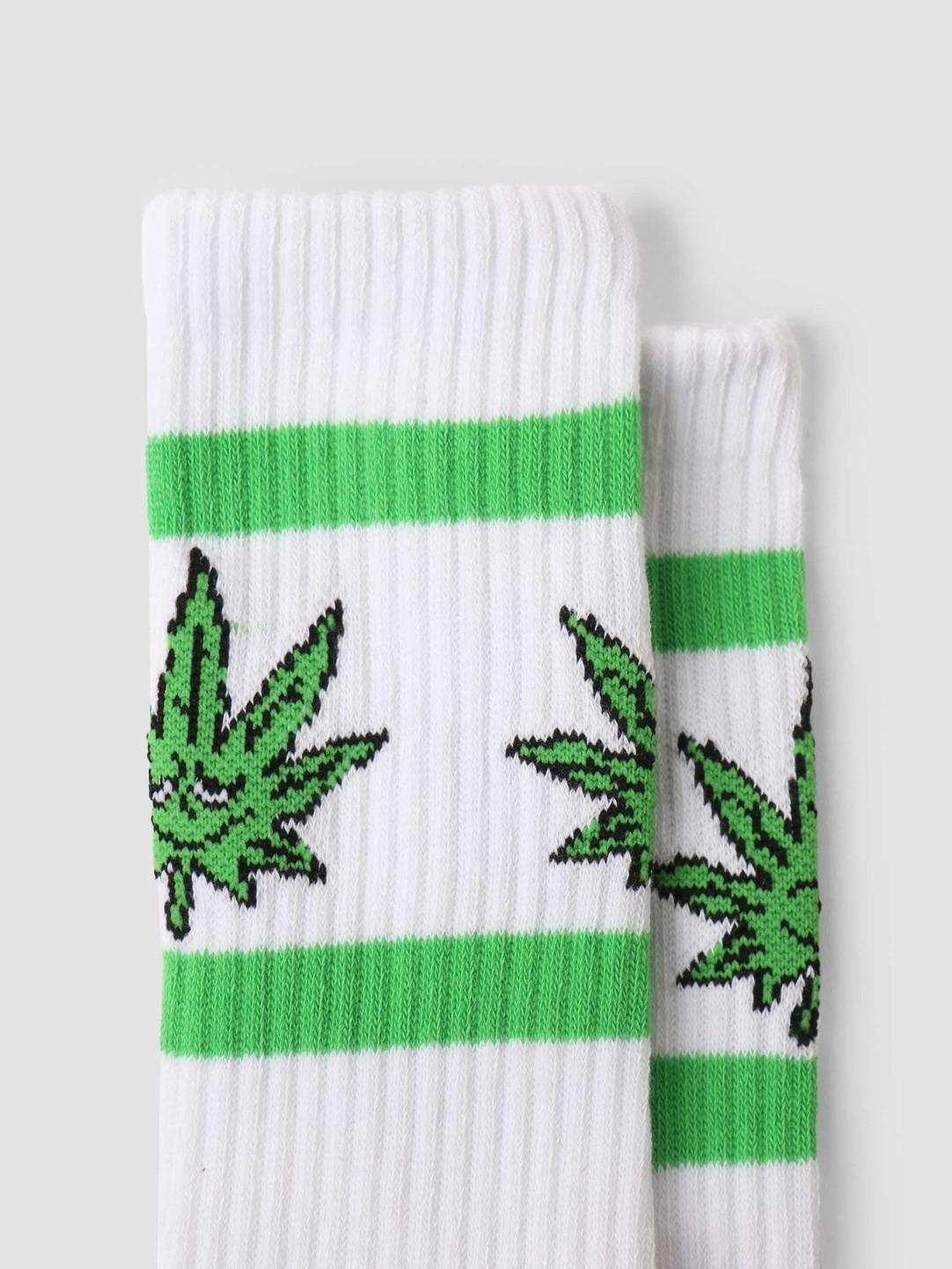 HUF HUF Green Buddy Athletic Sock White SK00635