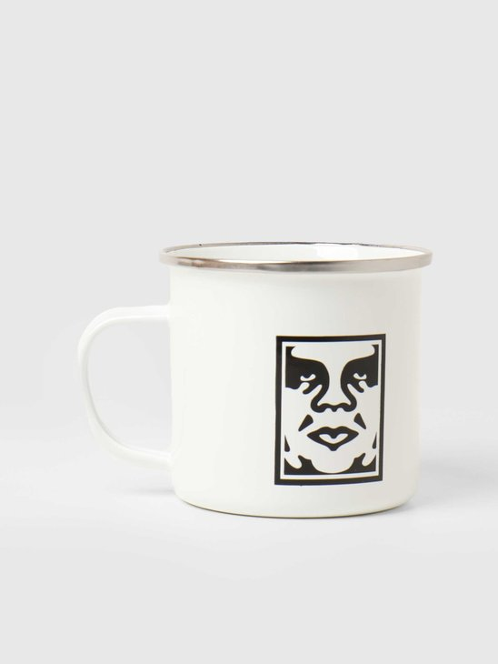 Obey Icon Steel Mug White 100630001