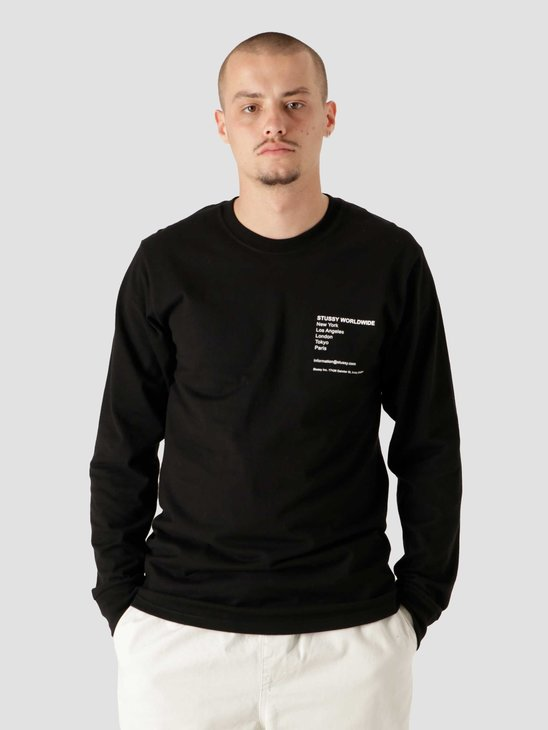 Stussy Modern Leaders Longsleeve T-Shirt Black 1994690