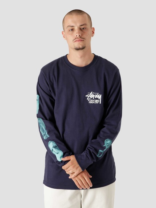 Stussy Masked Longsleeve T-Shirt Navy 1994698