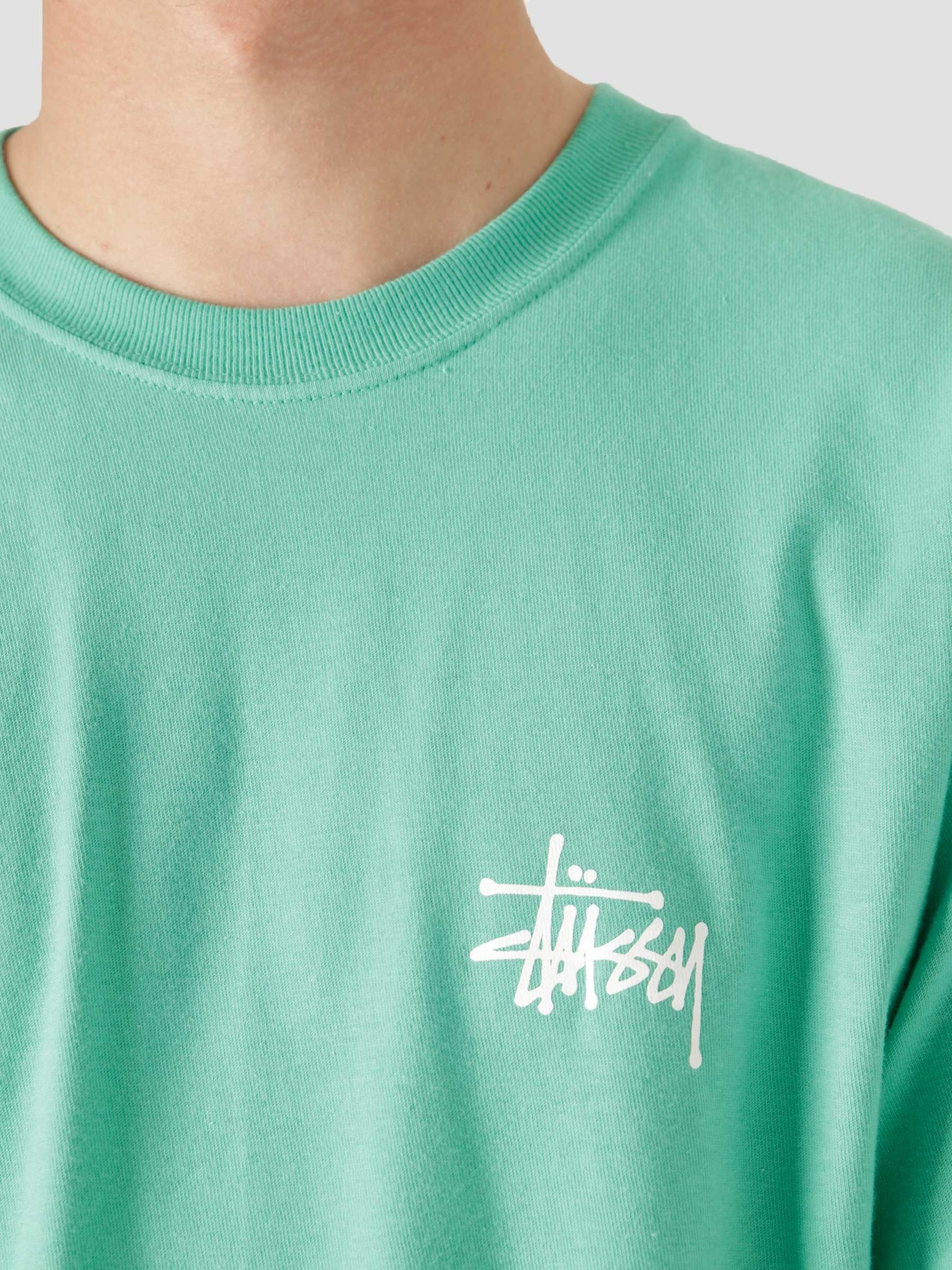 Stussy Stussy Basic Stussy T-Shirt Green 1904649