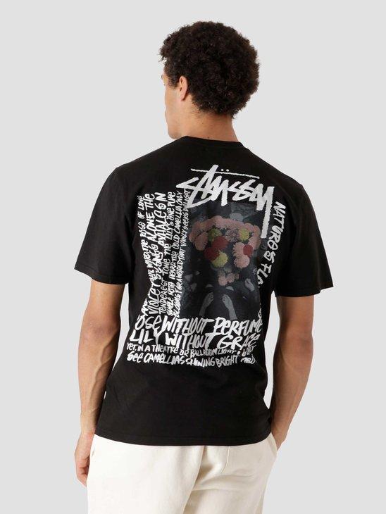 Stussy Camellias Pig. Dyed T-Shirt Black 1904695